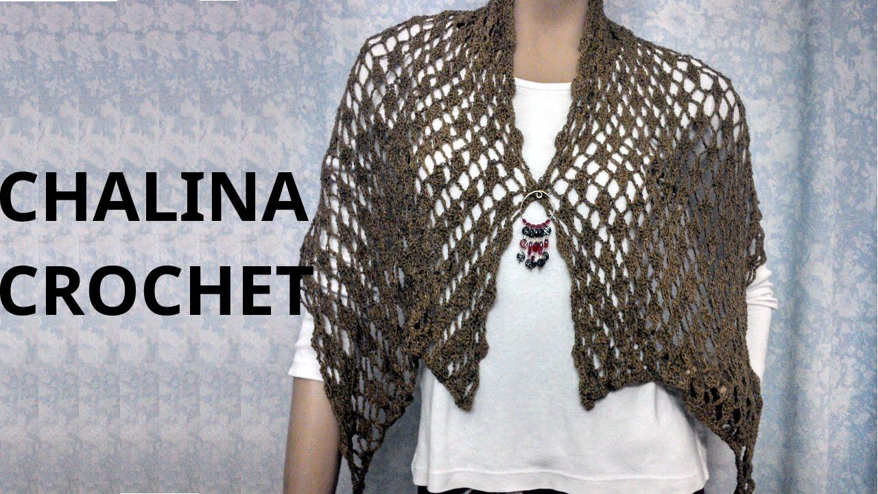 BUFANDA #chalina en tejido Crochet o ganchillo tutorial paso a paso ...