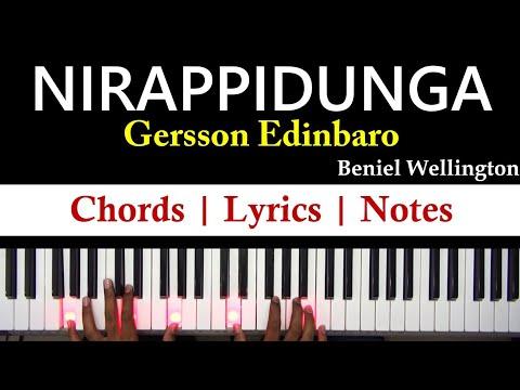 Nirappidunga - Gersson Edinbaro | Tamil Christian Song | Keyboard Chords, Notes with Lyrics