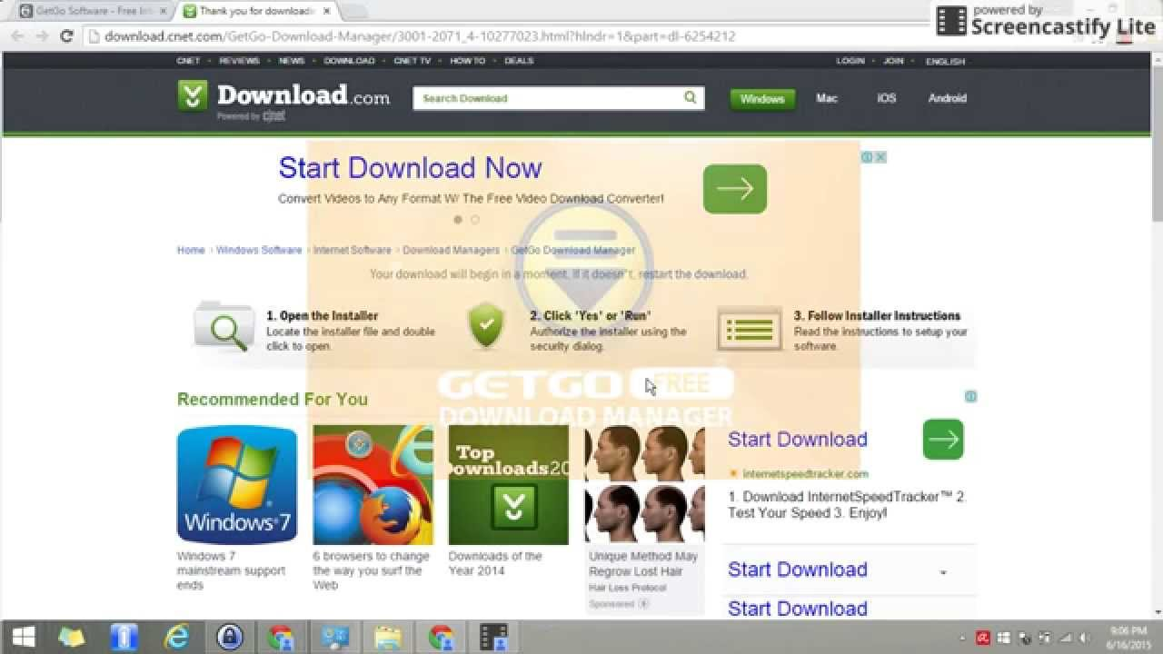 Getgo youtube download manager free.