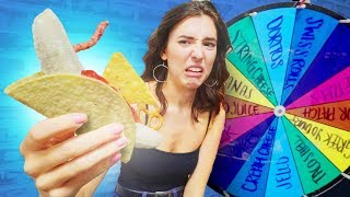 BlindFolded Roulette Food Combo Challenge!