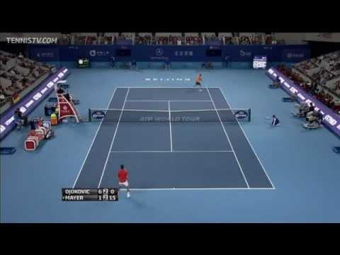 Mayer Rips Hot Shot Winner Past Djokovic
