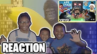 REACTING TO APE CHASE 🎵 FGTeeV OFFICIAL MUSIC VIDEO