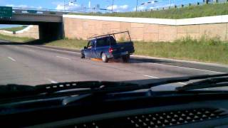 Driving on highway with no tire