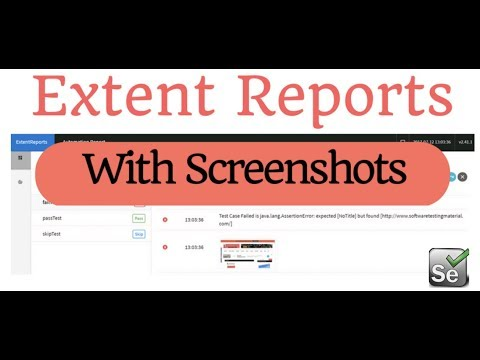 How to add Screenshot in Extent Report for Failed Test Cases in Selenium