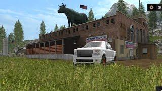 Farming Simulator 17 #3 | Recorriendo el Pueblo, Tren, Establos y Negocios