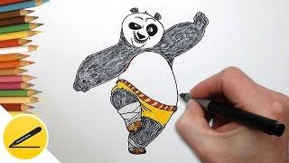 Скачать Как Нарисовать Кунг Фу Панду По из мультика Поэтапное рисование для детей