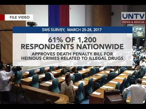 61% ng mga Pilipino, pabor sa bersyon ng Lower House sa death penalty bill