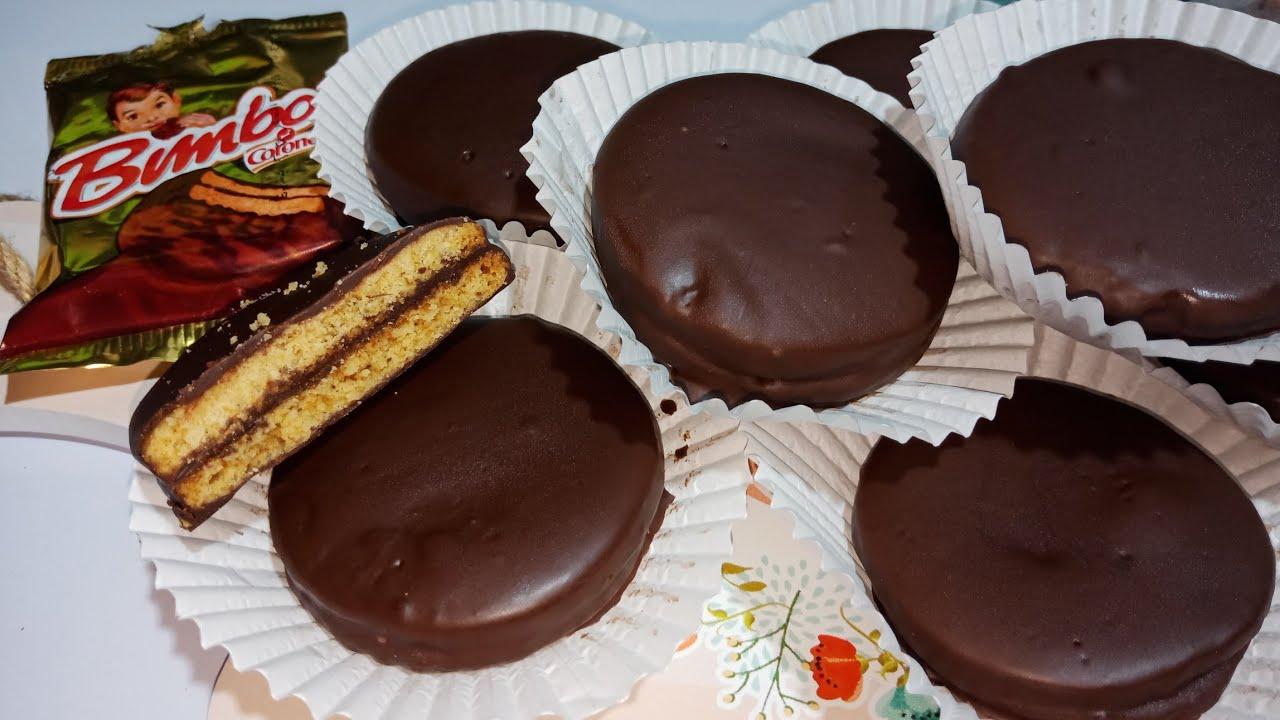 أسهل وأحلي طريقة لبسكويت بيمبو بسكويت بالشيكولاته من مطبخي فاطمه ابو حاتي Youtube