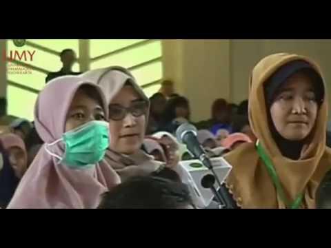"Dr. Zakir Naik live gontor ""Wanita masuk islam setelah debat Sengit"""
