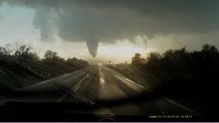 (HD) Rozel, Kansas EF4 tornado timelapse from dashcam - May 18, 2013