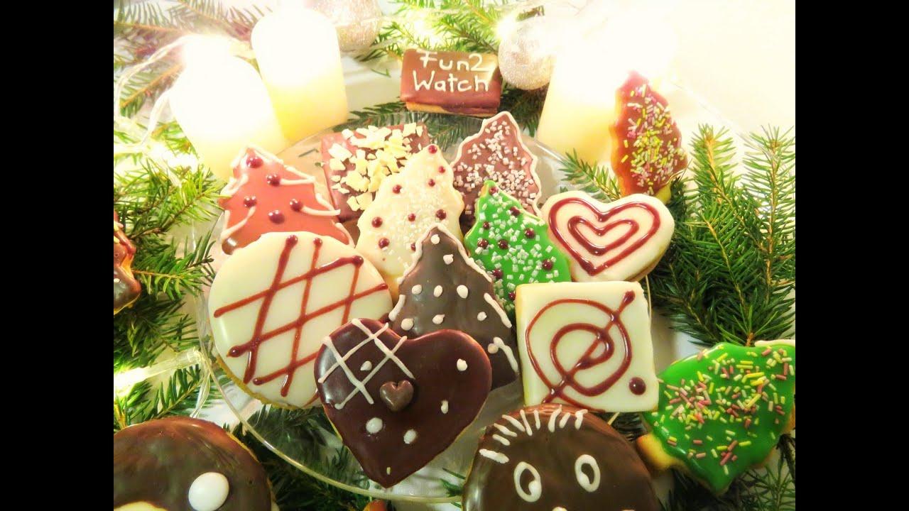 Glasur Weihnachtsplätzchen.Weihnachtsplätzchen Tannenhonig Plätzchen Rezept Plätzchen Glasur