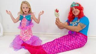 تحولت ستايسي وأبي إلى حورية البحر قليلا