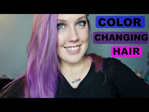 heat sensitive thermochromic magic color changing hair