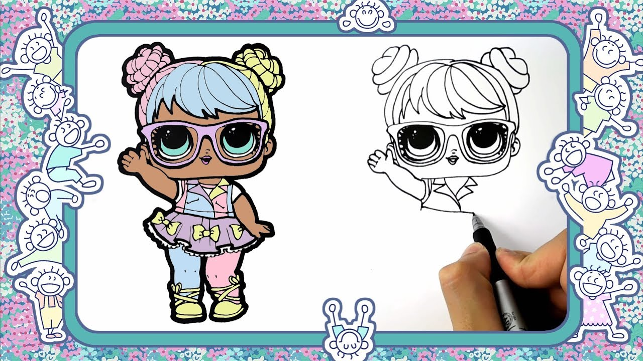 How To Draw A Baby Doll Lol Bon Bon Learn To Draw Drawing Lessons Coloring Pages