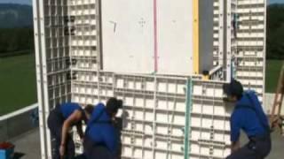 Монтаж стеновой опалубки  ч. 2(EpicEco - многоразовая пластиковая опалубка для всех видов работ начиная с фундамента и заканчивая перекрытия..., 2010-04-02T10:58:23.000Z)