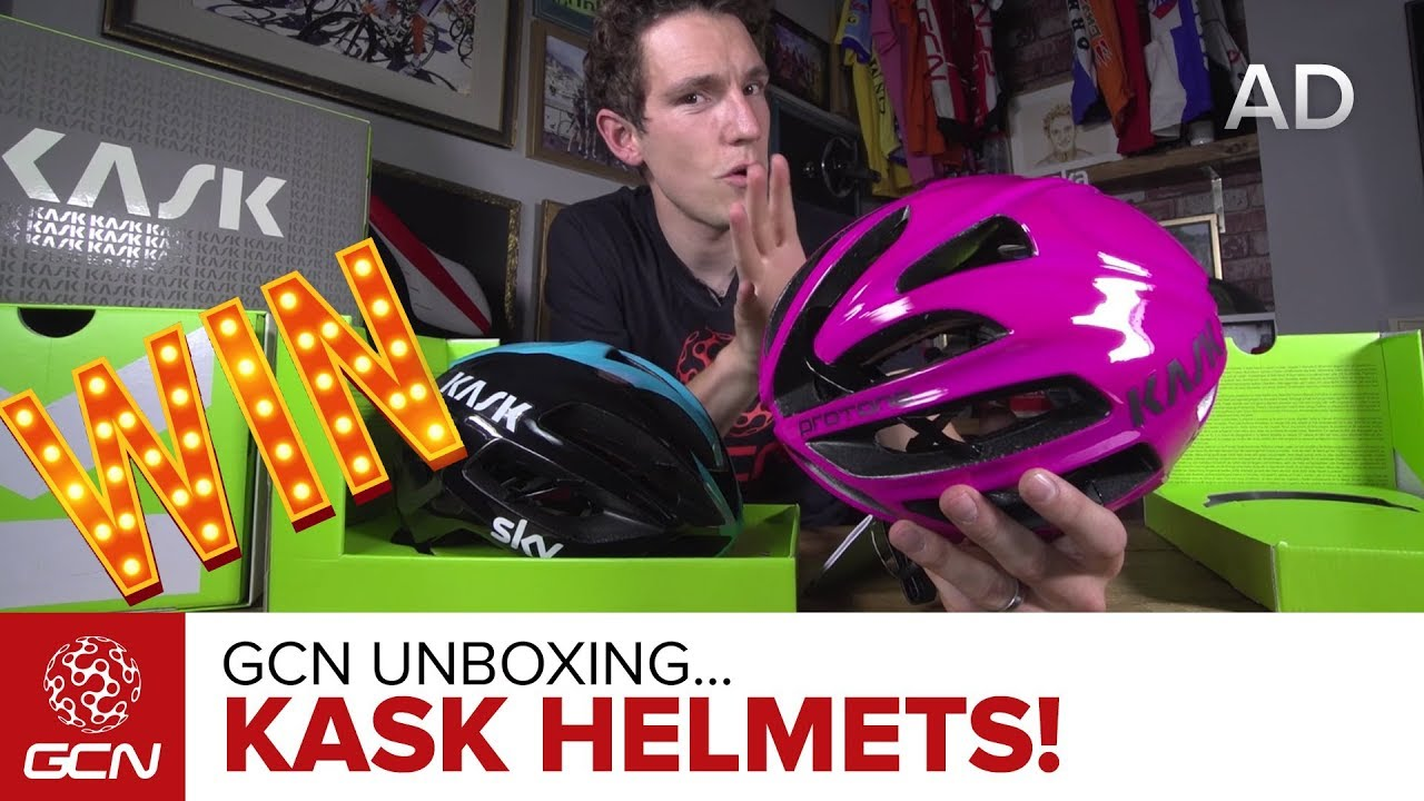 853229ced8a GCN Unboxing Kask Protone   Infinity Helmets – Team Sky   Michelle Vesterby  Editions