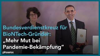 Bundesverdienstkreuz für BioNTech-Gründer Özlem Türeci und Uğur Şahin