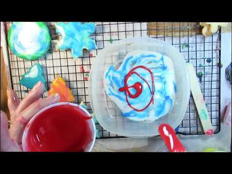 Easy How to Decorate  Sugar Cookies with Fluid-Art Pour Colored Icing