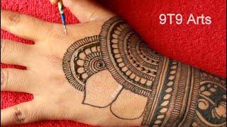 Karva Chauth 2020 Special Easy Bharwa Mehndi Design||Arabic Henna Design for Hand||Semi Bridal Mehdi