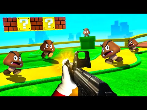 What if Super Mario Was a First Person Shooter?! - The Super 1-1 Challenge |