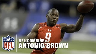 Antonio Brown (WR, Central Michigan) | 2010 NFL Combine Highlights