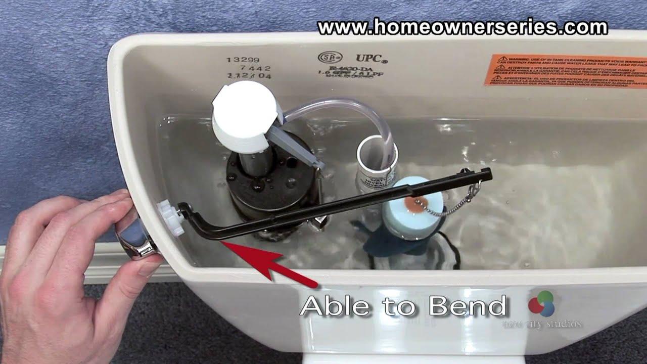 How to Fix a Toilet   Parts   Flush Handle   YouTube. Toilet Bowl Tank Parts. Home Design Ideas
