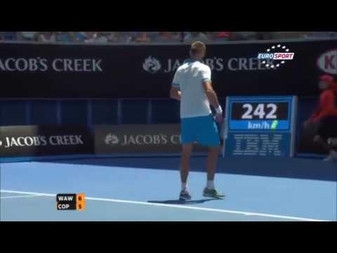 Marius Copil The fastest Grand Slam serve at 242 kmh