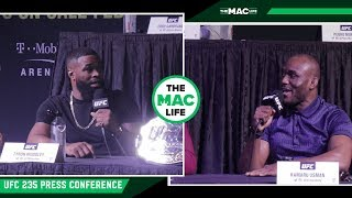 Tyron Woodley and Kamaru Usman Verbally Go At It | UFC 235 Press Conference