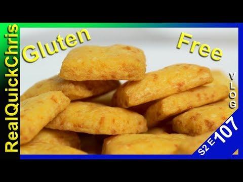 making gluten free cheese crackers s2e107