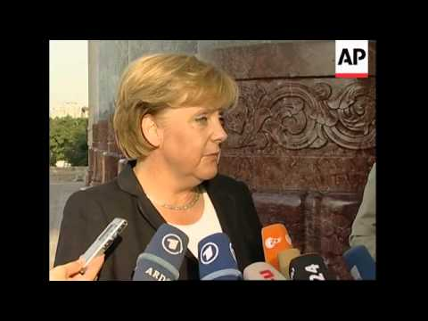 German chancellor with President Hu, comments