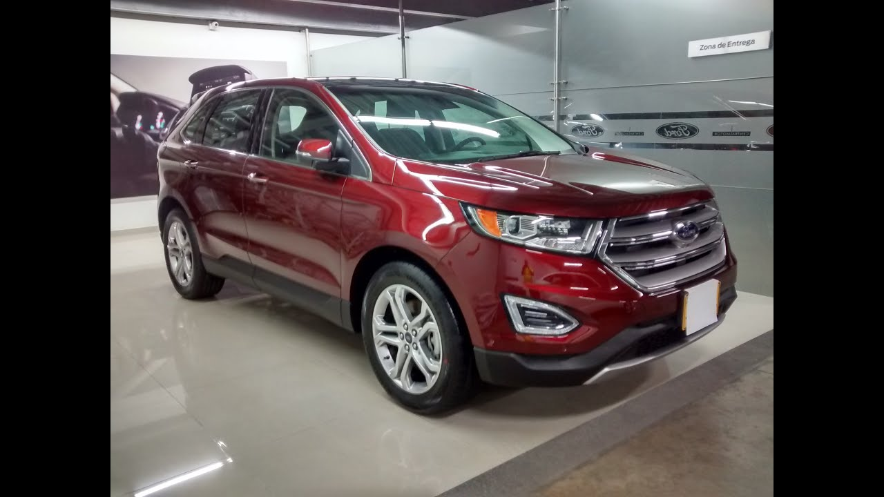 ford edge titanium at 4x4 galer a exclusiva color rojo fuego youtube. Black Bedroom Furniture Sets. Home Design Ideas
