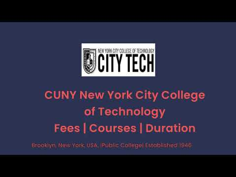 CUNY New York City College of Technology - USA | Courses | Tuition Fees | Duration
