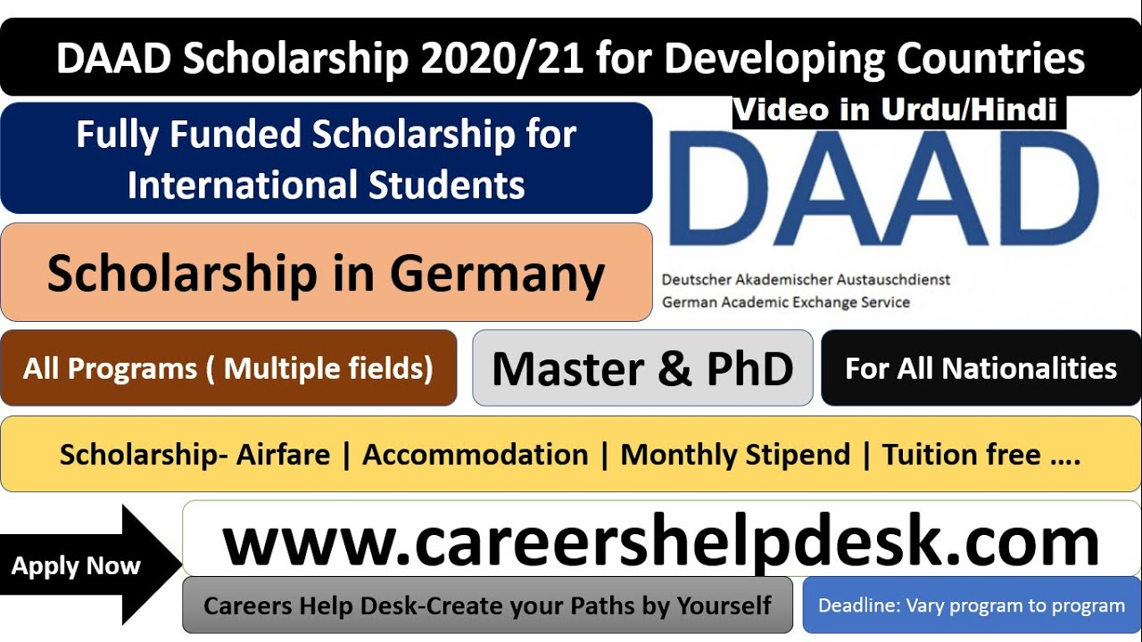 free fully funded scholarship for developing countries