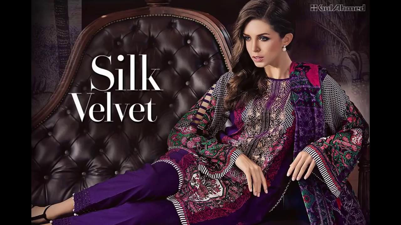 31e70fd065 Latest Gul Ahmad Silk Valvet collection 2017 -18 - YouTube
