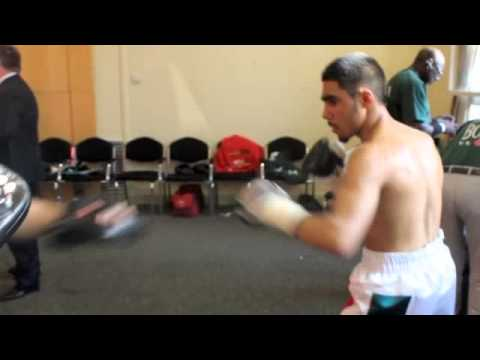 HENNESSY PROMOTIONS STARLET YUSUF SAFA HITS THE PADS BEFORE HIS CHANNEL 5 PRO DEBUT