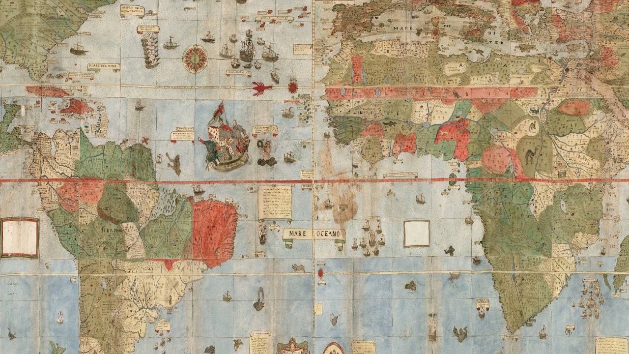 1587 World Map.360 Map Of The World 1587 By Urbano Monte Youtube