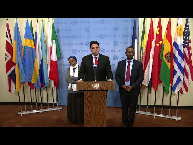 Danny Danon (Israel) on the Middle East - Security Council Stakeout (20 November 2017)