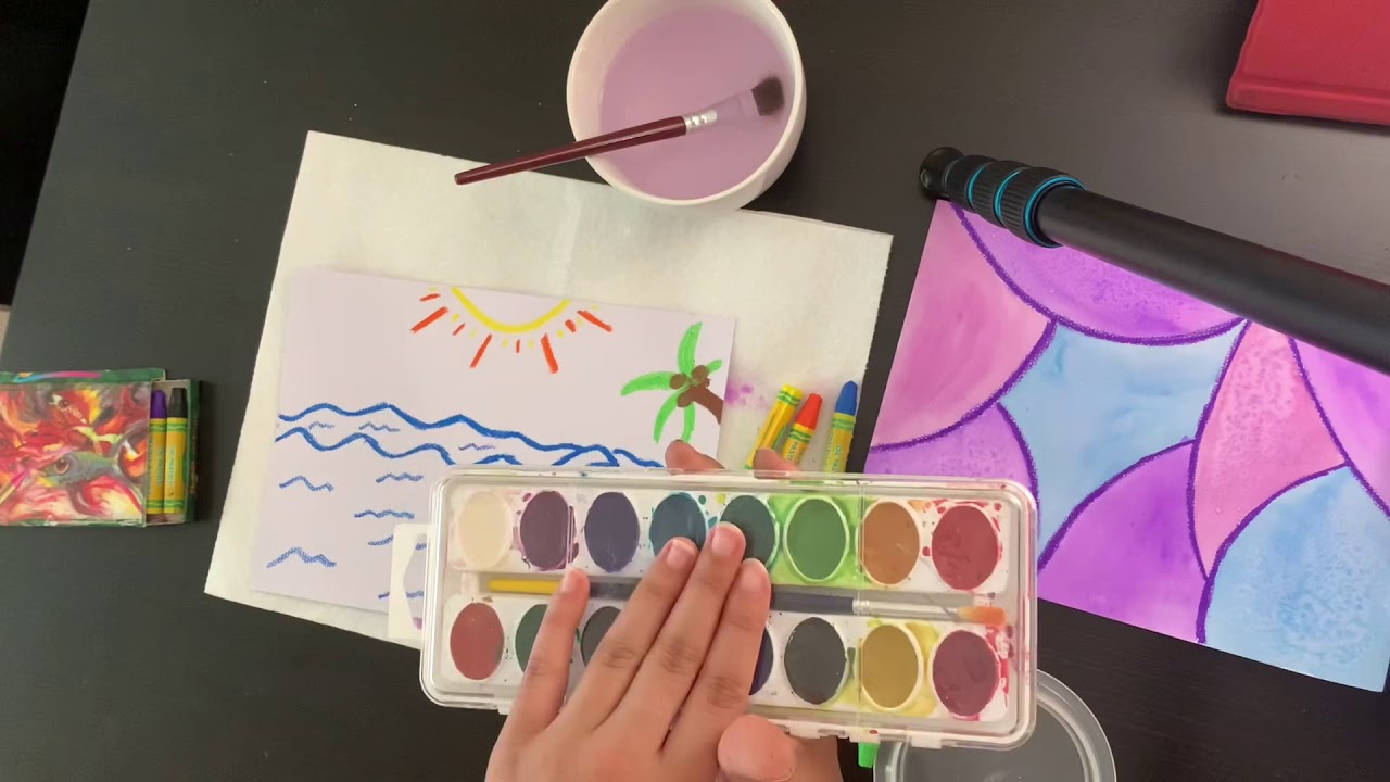 Arts Crafts Watercolor Make Up For Missed Zoom Class Youtube