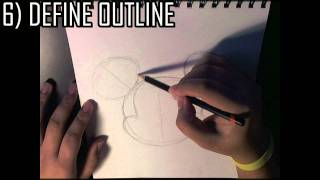 Quick HOW TO - draw Mickey Mouse