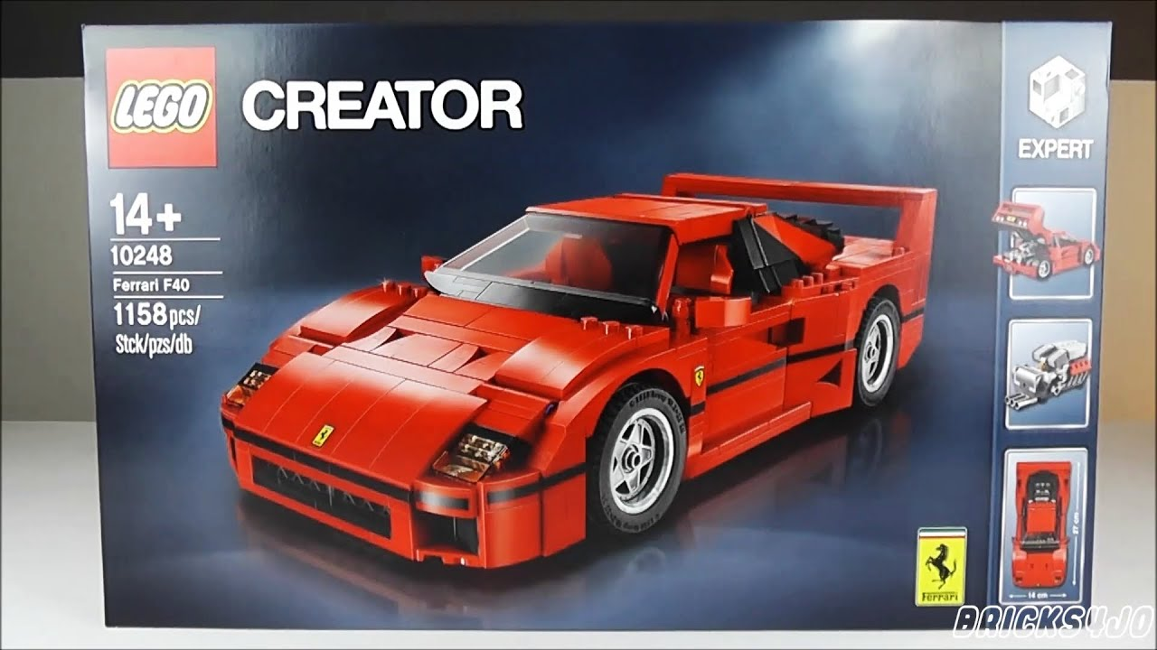 lego 10248 ferrari f40 creator expert review deutsch youtube. Black Bedroom Furniture Sets. Home Design Ideas