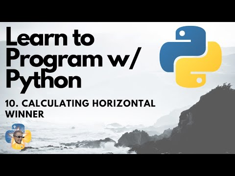 Calculating Horizontal Winner - Python 3 Programming Tutorial p.10