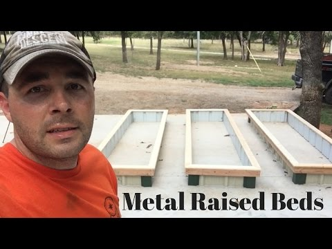 How to Build Sheet Metal Raised Garden Beds