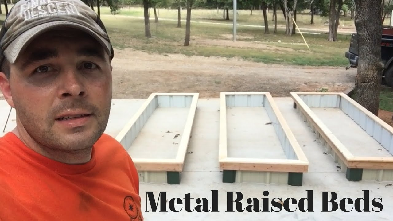 How To Build Sheet Metal Raised Garden Beds Youtube