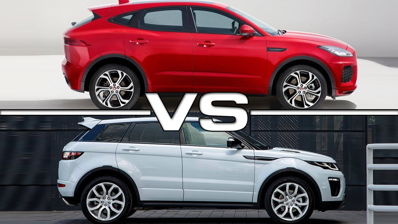 2018 Jaguar E Pace Vs 2016 Range Rover Evoque Youtube