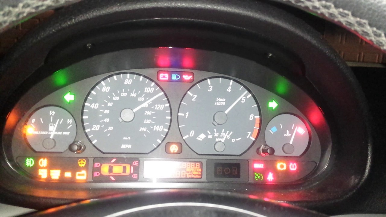 hight resolution of how to check gauge cluster functions on bmw e46 all