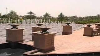 Hotel Emirates Palace Abu Dhabi Wasserspiele von aussen Brunnen Luxushotel Strandhotel 5,5 Sterne