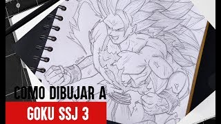 Como Dibujar a Goku SSJ3 Paso a Paso // How to draw Son Goku //DRAGON BALL Z // Billy