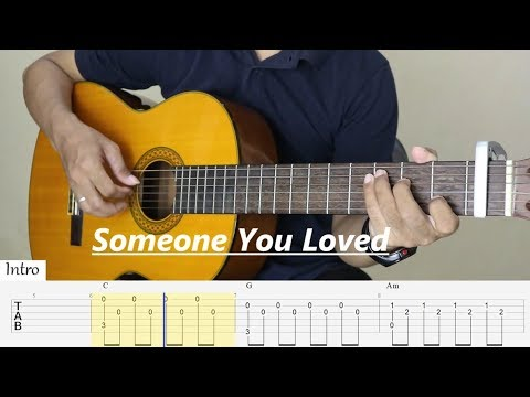 SOMEONE YOU LOVED - Lewis capaldi - Fingerstyle Guitar (TAB)