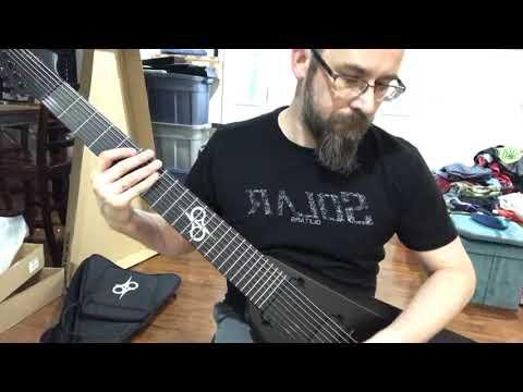 Solar Guitars 8 string V unboxing. V1.8C – CARBON BLACK MATTE