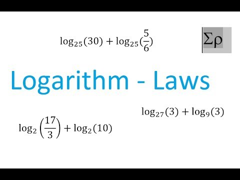 Logarithm Law Examples